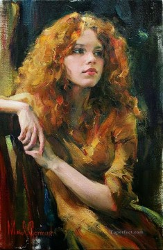 Pretty Girl MIG 35 Impressionist Oil Paintings
